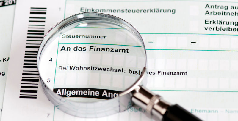 Picture of a German tax form