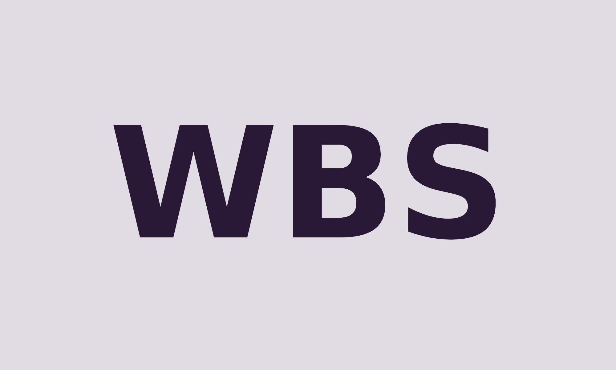 Image with WBS acronym